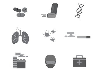 Free Asthma Medical Vector Icons - vector gratuit #429125