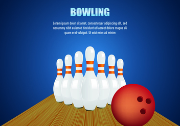 Bowling Background Vector - Free vector #429155