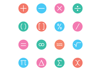 Math Symbol Icon Vectors - vector #429185 gratis