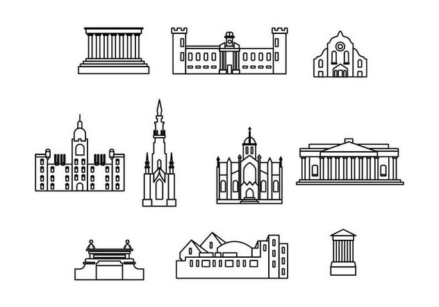 Free Edinburgh Landmark Vector - бесплатный vector #429195