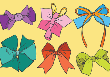 Free Hair Ribbon Icons Vector - Free vector #429305