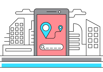 Free Urban Navigation Vector Illustration - vector gratuit #429365