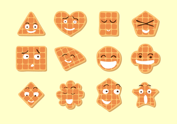 Cute Waffle Free Vector - Free vector #429385