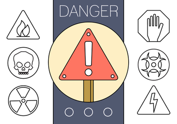 Free Linear Signs of Danger - бесплатный vector #429395