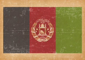 Afghanistan Flag On Old Grunge Background - бесплатный vector #429415