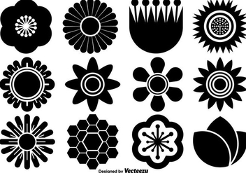Vector Collection Of Flat Flower Icons - vector gratuit #429455