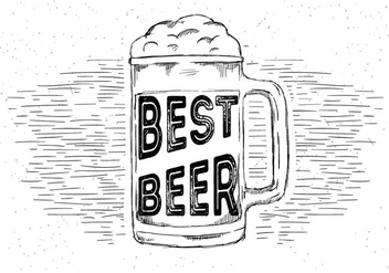 Free Hand Drawn Vector Beer - бесплатный vector #429515