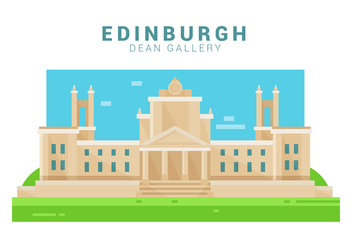 Dean Gallery Of Edinburgh Vector Illustration - Kostenloses vector #429545