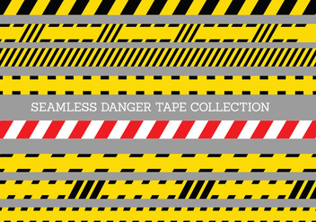 Seamless Danger Tape Template - Free vector #429565