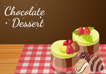 Chocolate Dessert Vector - бесплатный vector #429575