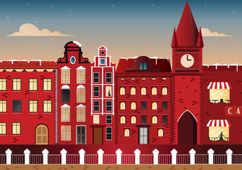 Prague Town Vector Art - vector #429605 gratis