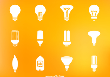Light Bulb And Led Lamp Vector Icon Set - Free vector #429635