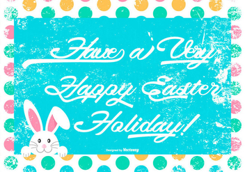 Cute Grunge Happy Easter Illustration - Free vector #429655