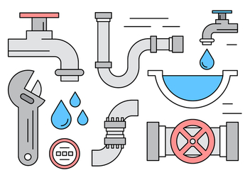 Free Linear Plumbing Vector Elements - бесплатный vector #429695