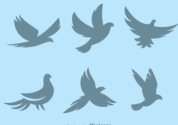 Silhouette Pigeon Symbol Vectors - Free vector #429815
