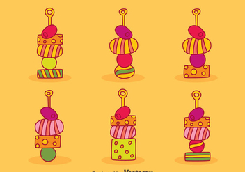 Canapes Collection Vector - vector #429865 gratis