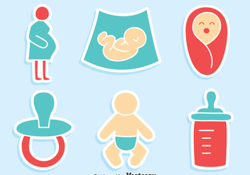 Nice Maternity ELement Vectors - Free vector #429875