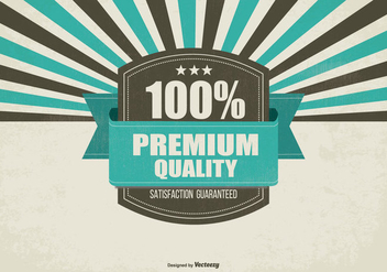 Retro Promotional Premium Quality Background - vector #429905 gratis