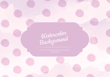 Vector Pink Watercolor Background - бесплатный vector #429925