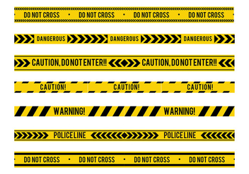 Danger Tape Seamless Free Vector - vector #429945 gratis
