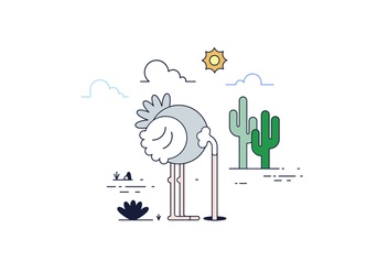 Free Ostrich Vector - Free vector #429965