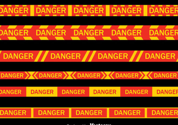 Danger Tape Collection Vector - vector #429995 gratis