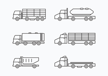 Camion Collection Set - vector #430045 gratis