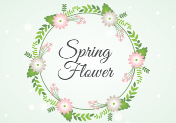 Free Spring Flower Wreath Background - Kostenloses vector #430065