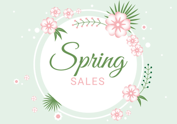 Free Spring Season Sale Vector Background - бесплатный vector #430075