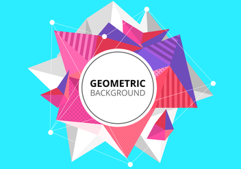 Free Abstract Low Poly Background - vector gratuit #430115