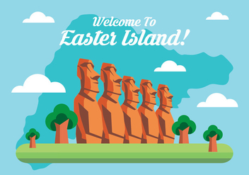 Easter Island Statue - Free vector #430175
