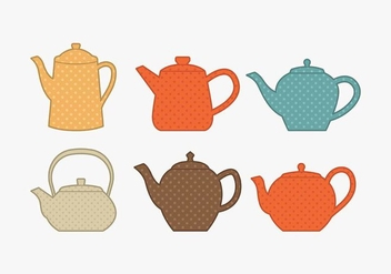 Polkadot Teapot Collection - бесплатный vector #430185
