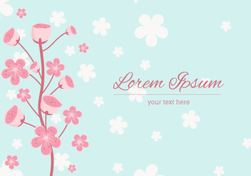 Peach Blossom Background Vector - vector gratuit #430215