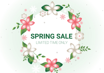 Free Spring Sale Vector Background - vector gratuit #430235