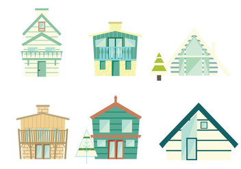 Pastel Chalet Vector - Free vector #430285