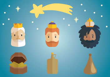 Three Kings Epiphany Vector - бесплатный vector #430305