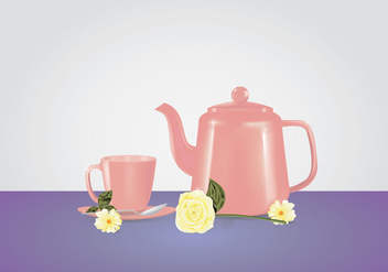 Pink Teapot Mock Up - vector gratuit #430315