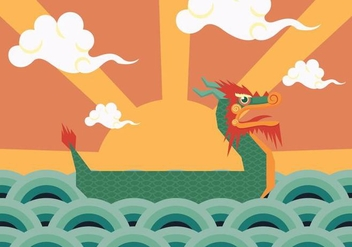 Dragon Boat Poster Vector - Free vector #430325