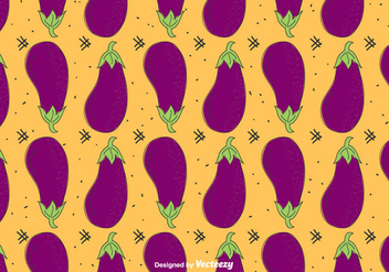Eggplant Vector Pattern - Free vector #430395