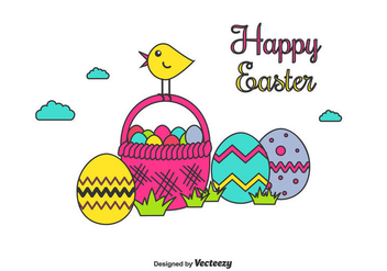 Happy Easter Vector - Kostenloses vector #430455