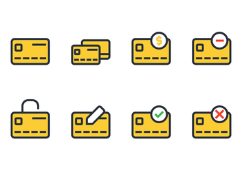Credit Card Icon - vector #430565 gratis