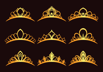 Set Of Princess Tiaras - Kostenloses vector #430645