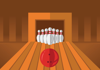 Bowling Lane Illustrations - vector #430675 gratis