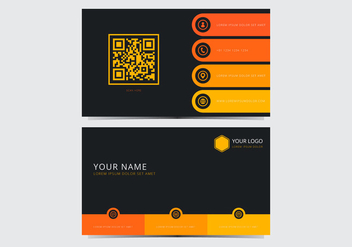 Yellow Stylish Business Card Template - vector gratuit #430715