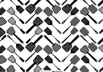 Vector Fly Swatter Seamless Pattern - Free vector #430735