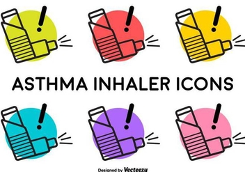 Vector Asthma Inhaler Signs - бесплатный vector #430755