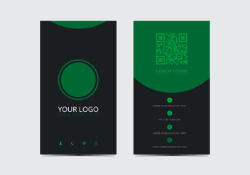 Green Stylish Business Card Template - vector #430765 gratis