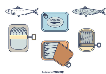 Sardine Vector Pack - Free vector #430775