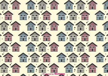 Small Houses Vector Pattern - Free vector #430785