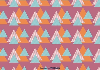 Striped Triangles Vector Pattern - vector #430795 gratis